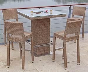 Barhocker Mit Tisch : garden pleasure bar set alvito 5 tlg 4 barhocker ~ Watch28wear.com Haus und Dekorationen
