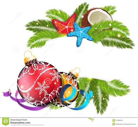Tropical Christmas Stock Vector Image Of Background