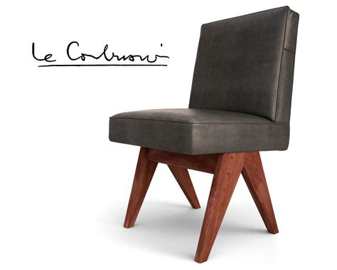 3d max jeanneret chair le corbusier