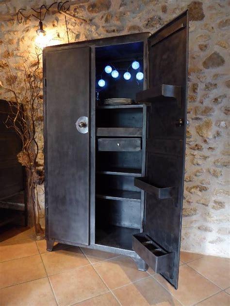lustre pour cuisine armoire métal an 50 39 industrielle vintage cuisine puces privées