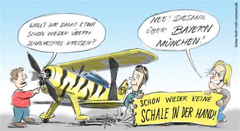 der bvb flieger ueber bayern muenchen freitags