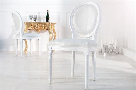 chaise de bureau baroque chaise baroque blanche style croco médaillon