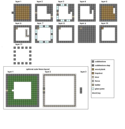 minecraft floorplans medium house  coltcoyote  deviantart minecraft modern house