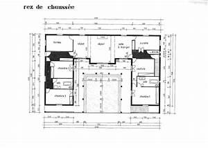Plan Maison U : cuisine maison de pi ces avec cuisine ouverte surface ~ Dallasstarsshop.com Idées de Décoration