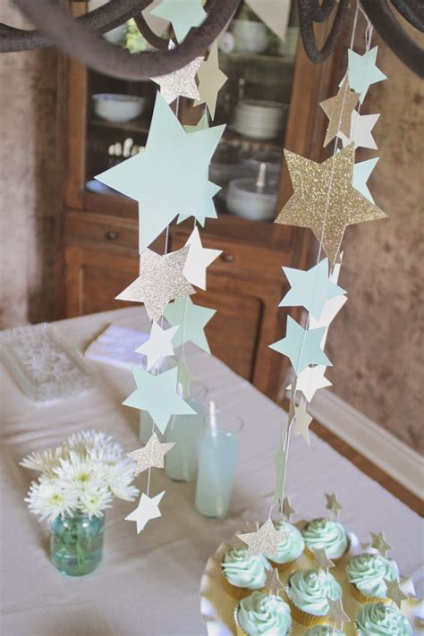shower baby twinkle star stars party decorations theme boy gold garland handmade moon diy decor showers birthday deco events themes