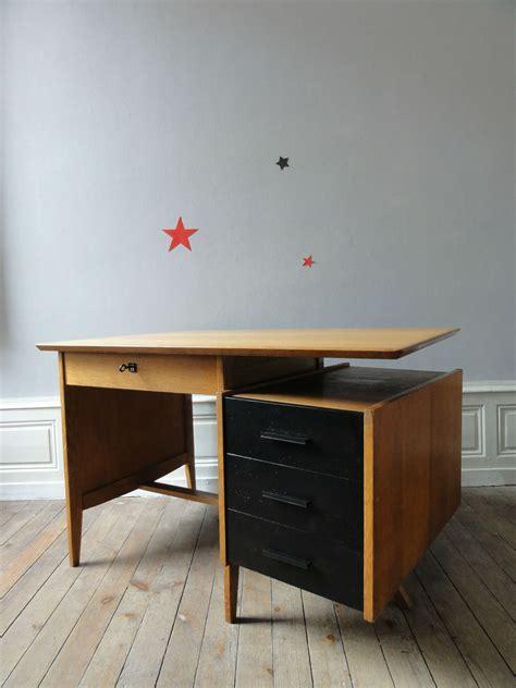 bureau 馥s 50 bureau annees 50 chêne et noir vintage émoi