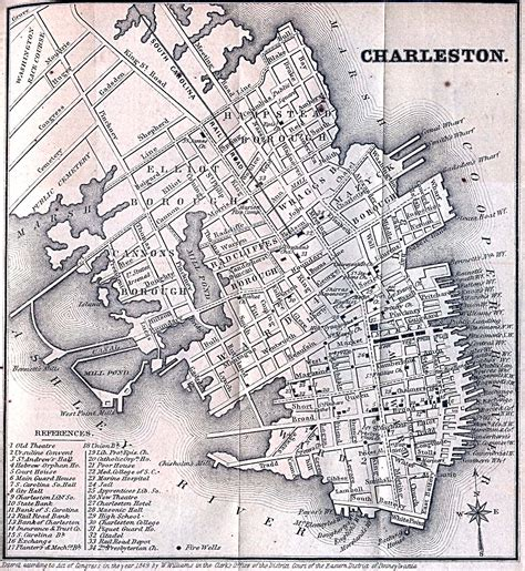 historical maps  charleston south carolina