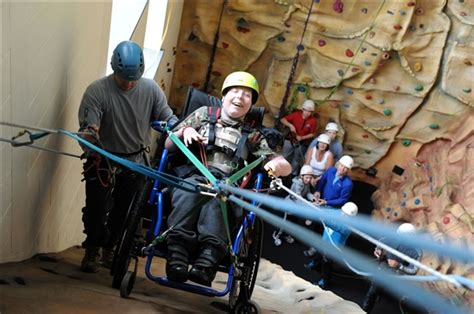 Climbing For All Workshops Instructing Disabled People