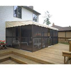 patiomate 174 screen enclosure 11 6 quot x 19 3 quot almond