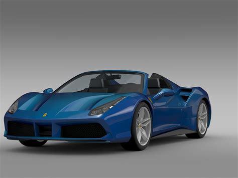 I actually saw a bright blue ram 2500 today, that looks nice. Ferrari 488 GTB Spider 2016 3D Model MAX OBJ 3DS FBX C4D LWO LW LWS - CGTrader.com