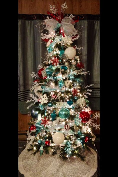 teal christmas tree ideas  pinterest