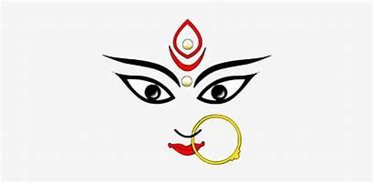 Durga Maa Drawing Face Goddess Pngkey Clipartmag