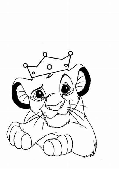 Coloring Lion King Pages Simba Nala Az