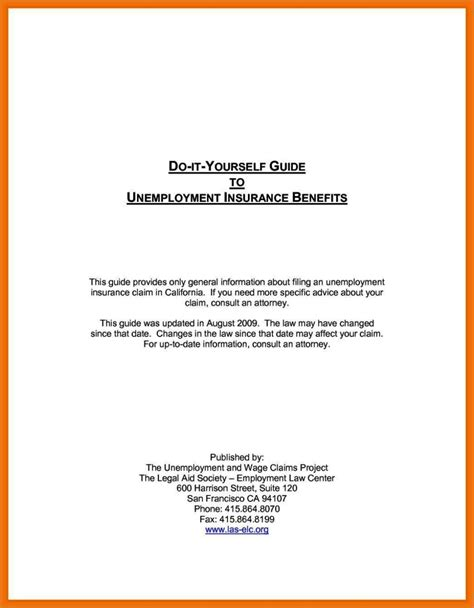 unemployment appeal letter template