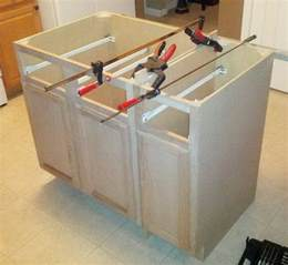 how to make kitchen island from cabinets how to make a diy kitchen island and install in your kitchen removeandreplace