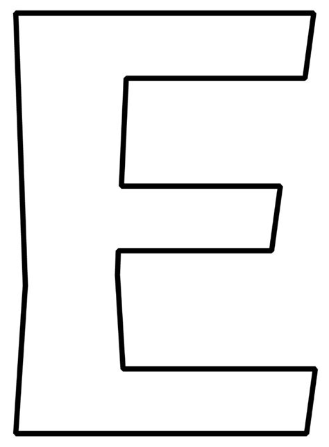 letter e free printable letters alphabet