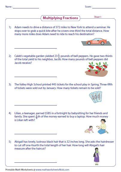 free worksheets multiplying fractions word problems fractions word problems worksheets fractions