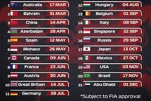 Formule 1 Programme Tv : calendario f1 2019 le date dei 21 gp in programma da marzo a dicembre ~ Medecine-chirurgie-esthetiques.com Avis de Voitures