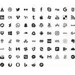 Icons Social Vector Icon Business Card Logos