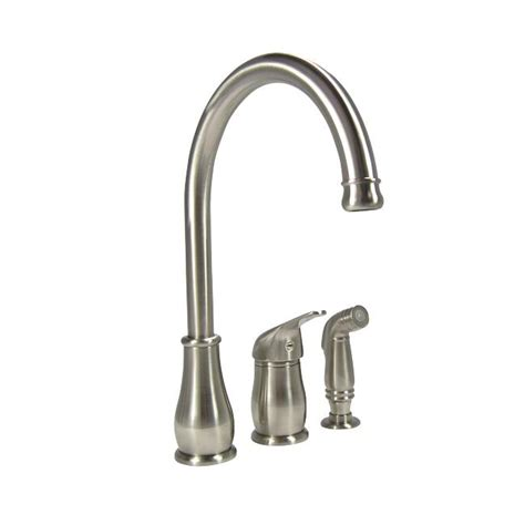 Denovo Threehole Stainless Steel Kitchen Faucet With
