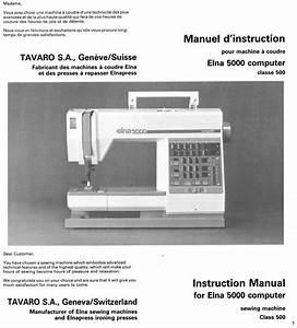 Elna 5000 Instruction Manual Pdf Download