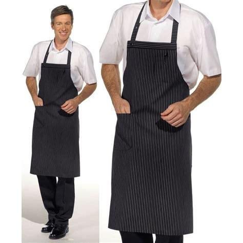 tablier cuisine homme tablier cuisine à bavette 1poche plaquée sur le côté peut