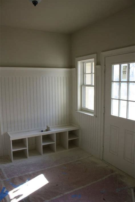How To Hang Wainscoting Panels by Beadboard 3 4 Of The Way Up The Wall Wide Moulding In
