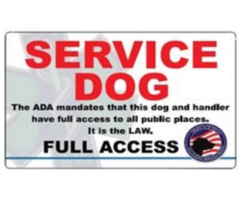 service dog full access id card full access