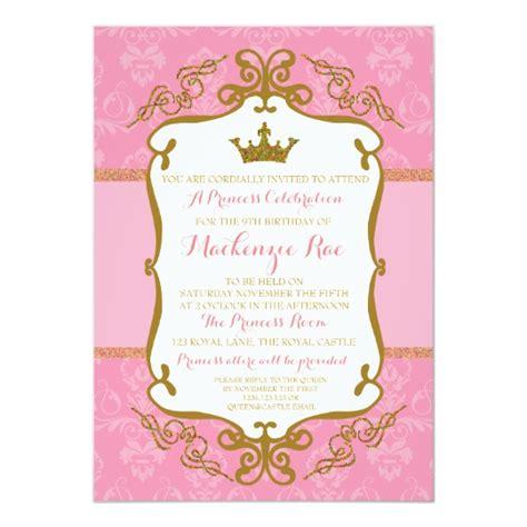 rosa real ouro  convite de festas da princesa zazzle