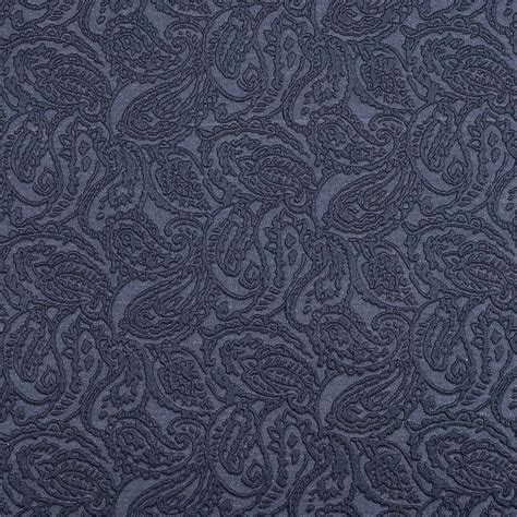 blue upholstery fabric blue paisley jacquard woven upholstery grade fabric by