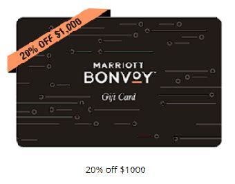 Many marriott bonvoy elite members have reported receiving an electronic gift card by email today. Marriott Bonvoy: Buy gift cards with 20% off | Premium-Flights.com