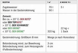 Kosten Beton Selber Mischen : estrich in innenr umen ~ Lizthompson.info Haus und Dekorationen