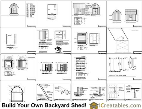 barn shed plans gambrel shed plans