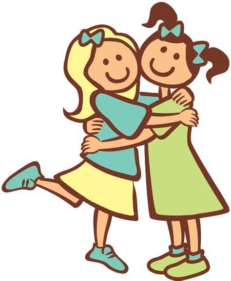 people hugging cartoon clipartsco