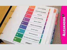 Recipe Organizer How to Organize Recipes in a Binder