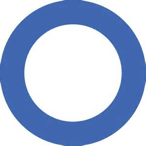 Blues with White Circle