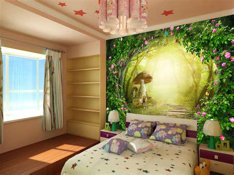 papier peint fantasie romantique chambre fille sur mesure