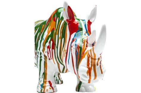 Deco Figurine Rhino Vert