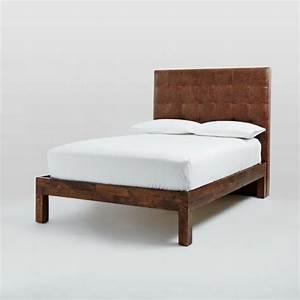 Tete De Lit Bois 180 : choisissez un lit en cuir pour bien meubler la chambre coucher ~ Teatrodelosmanantiales.com Idées de Décoration