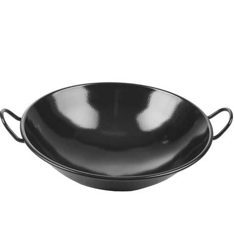Wajan Enamel Maspion Shopee wajan kuali wok hitam enamel 34cm anti lengket shopee