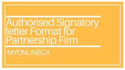 authorised signatory letter format  partnership firm