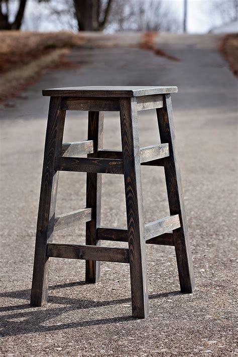 simple wood stools   beautiful solid wood
