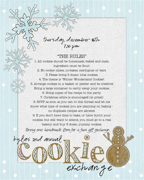 cookie exchange rules cookie exchange 2010blog the csi project