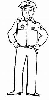 Policeman Coloring Police Clipart Drawing Officer Printable Uniform Printables Badge Template Policemen Office Worksheets Grasp Waist Crafts Getdrawings Firefighter Clipartmag sketch template