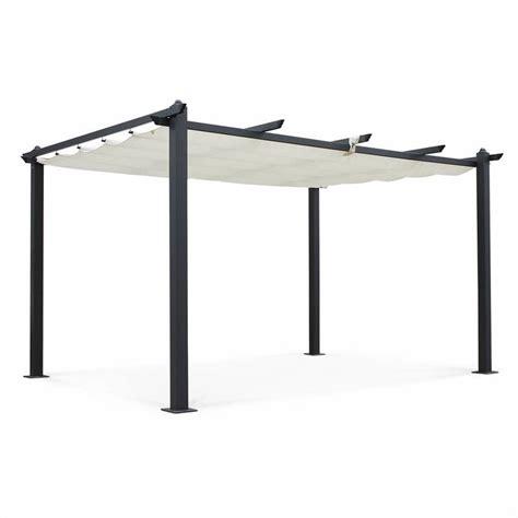 alinea accessoires cuisine tente de jardin pergola aluminium 3x4m condate écru