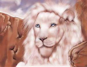 White Lion With Blue Eyes by DemetersRoses on DeviantArt