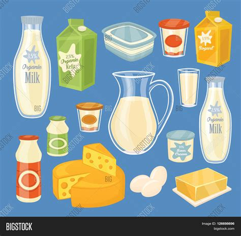 Dairy Products Isolated, Bitmap Image & Photo Bigstock