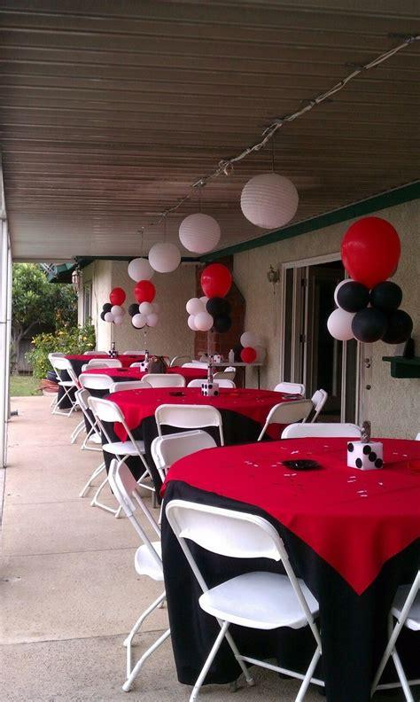senior party  fun ways  celebrate casino party