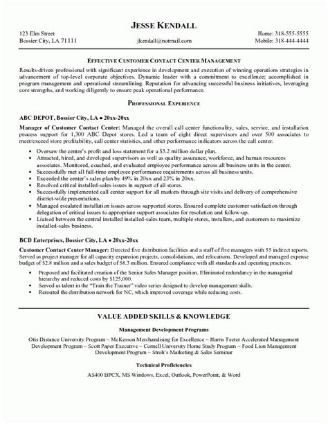 Call Center Resume Skills by Call Center Resume Sle Best Professional Resumes
