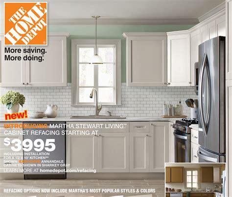 home depot cabinet refinishing martha stewart cabinet refacing